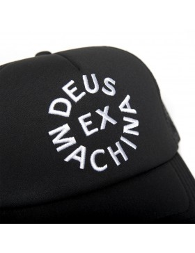 DEUS Trucker pet Circle logo - black