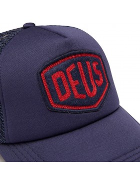 DEUS Trucker pet Felt Shield - navy