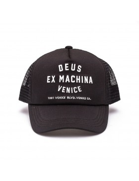 DEUS Venice Address Trucker cap - Black
