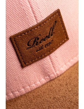 Reell 6 panel Suede cap Snapback Dusty Pink