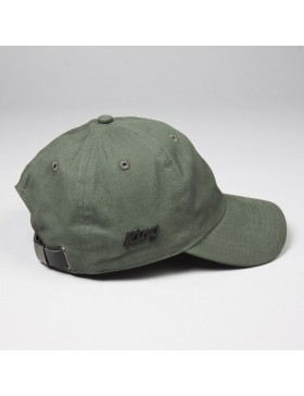 KING Apparel Script - Curved dad cap - olive