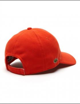 Lacoste pet - cotton pique - etna orange