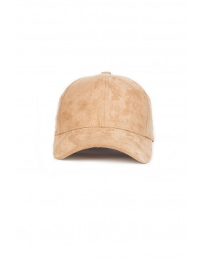 NVLTY London Suede cap Curved - sand