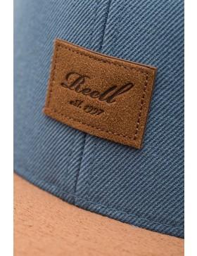 Reell 6 panel Suede cap snapback Blue Steel