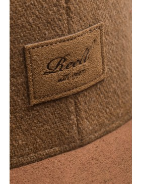 Reell 6 panel Suede cap snapback Camel wool