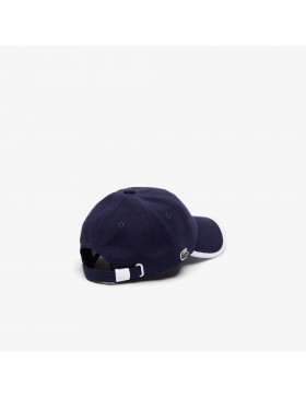 Lacoste cap - Contrast Piped Cotton Piqué - Blue