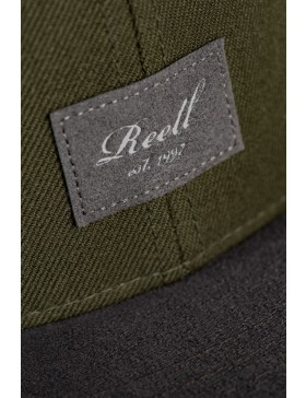 Reell 6 panel Suede cap snapback Dark Green