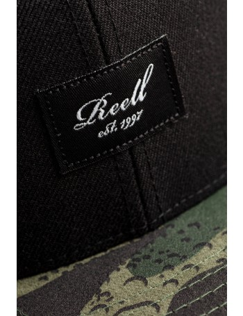 Reell 6 panel Pitchout snapback Black-Camo
