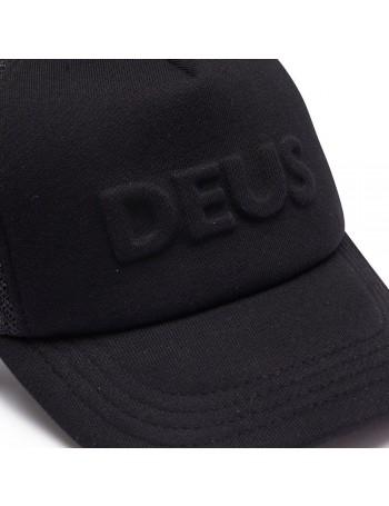 DEUS Pet Trucker Capital Letters- black
