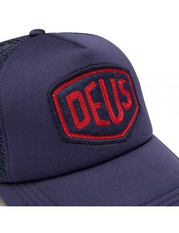 DEUS Trucker pet Felt Shield - navy