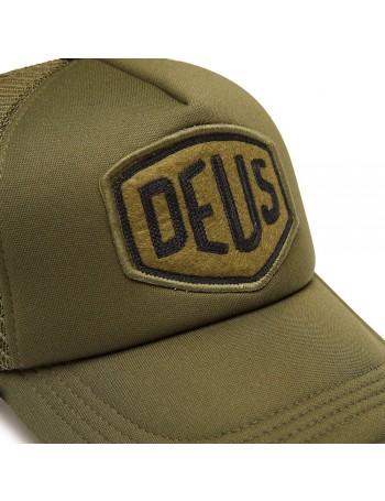 DEUS Trucker pet Felt Shield - olive