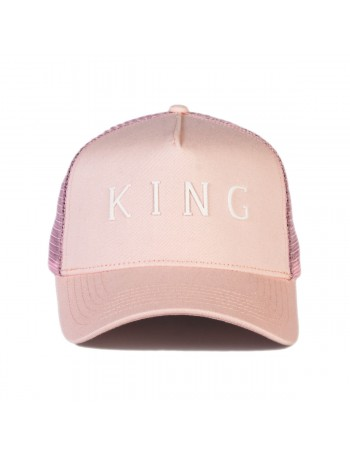 KING Apparel Leyton Curved Trucker cap - Blush
