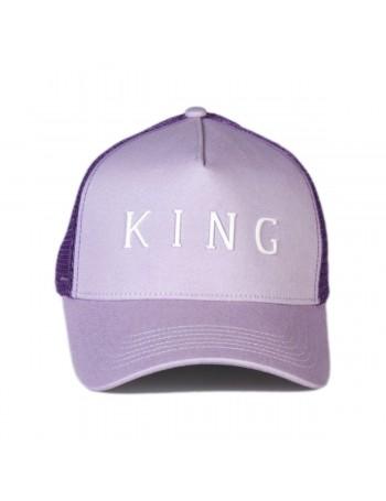 KING Apparel Leyton Curved Trucker cap - Lilac