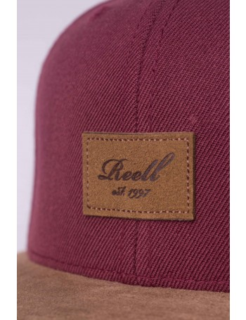 Reell 6 panel Suede cap snapback Maroon