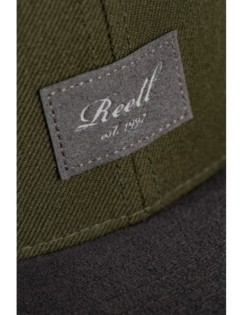 Reell 6 panel Suede cap snapback Dark Green