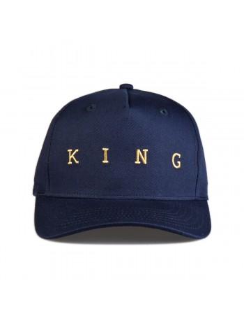 KING Apparel Tennyson Gold Curve Peak cap - Ink