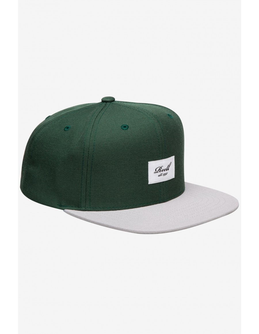 Reell 6 panel Pitchout snapback Pineneedle / Grey