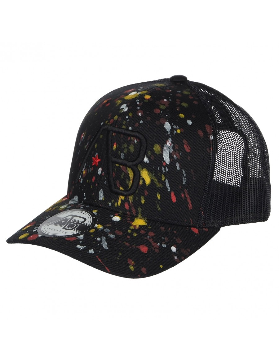 AB cap Retro Trucker - The Paint - Black
