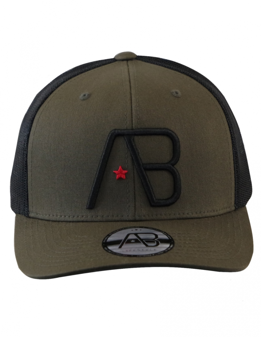 AB cap Retro Trucker - dark loden - black