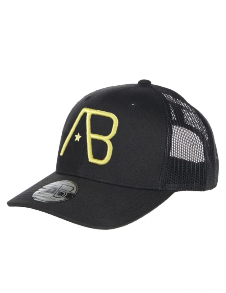 AB cap Retro Trucker - Black / Yellow