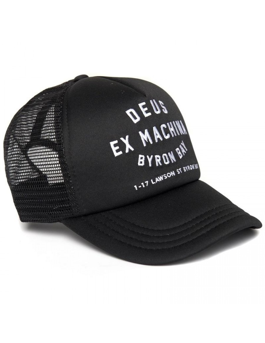 DEUS Byron Bay Address Trucker cap - Black