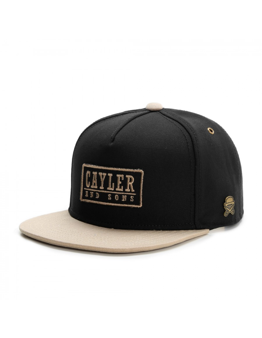 Cayler & Sons Garage snapback cap black-gold