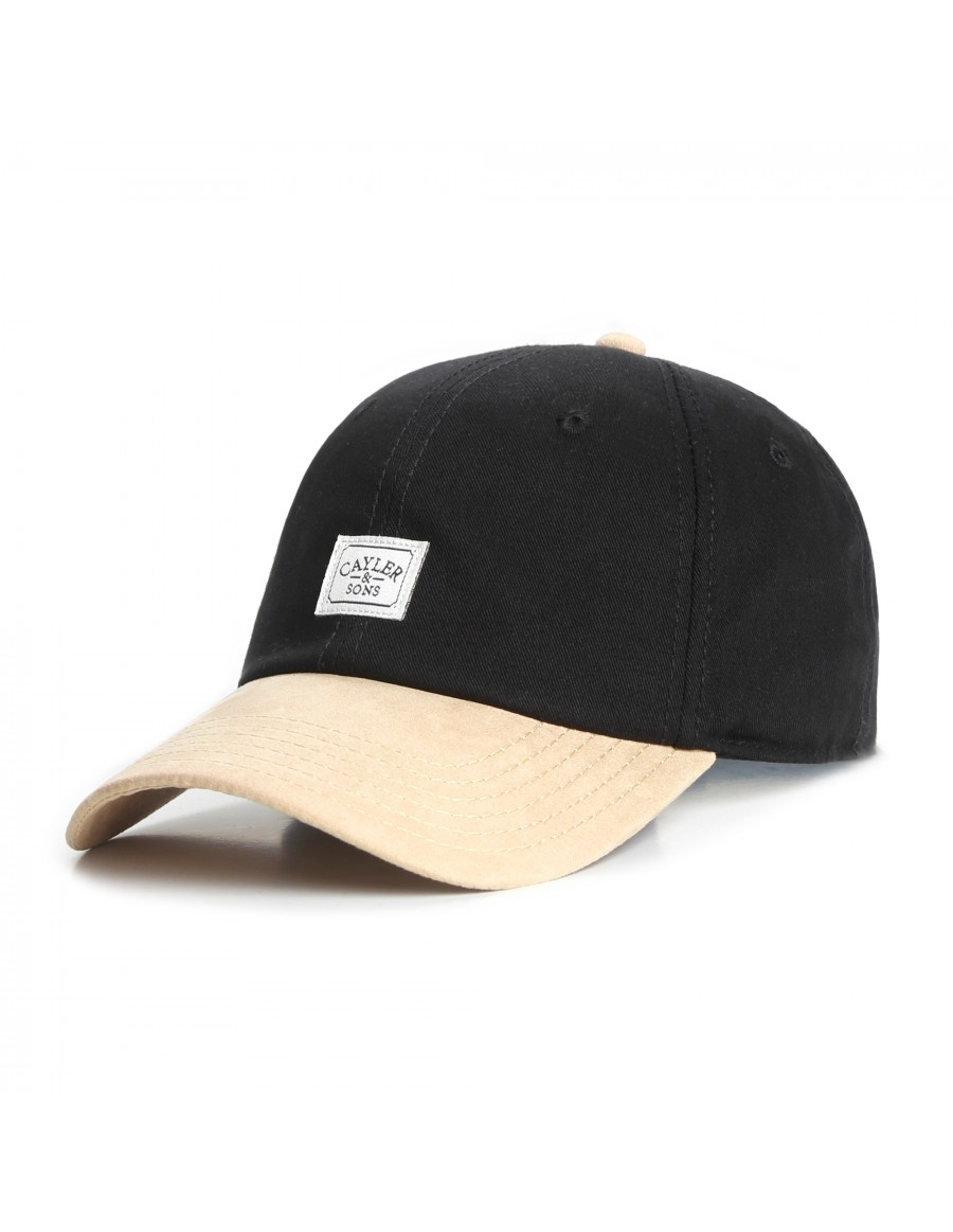 Cayler & Sons Patched - Curved dad cap - black gold