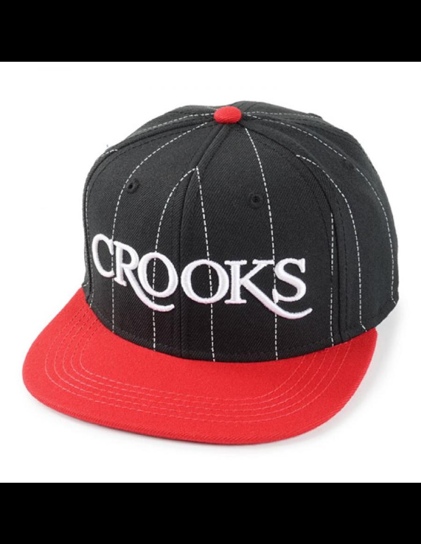 Crooks & Castles Serif snapback black-red