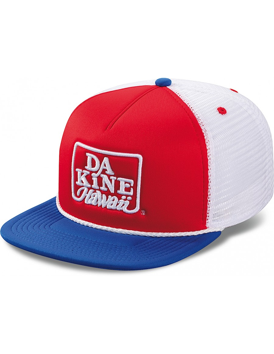 Dakine Retro logo flat bill trucker cap - Sale
