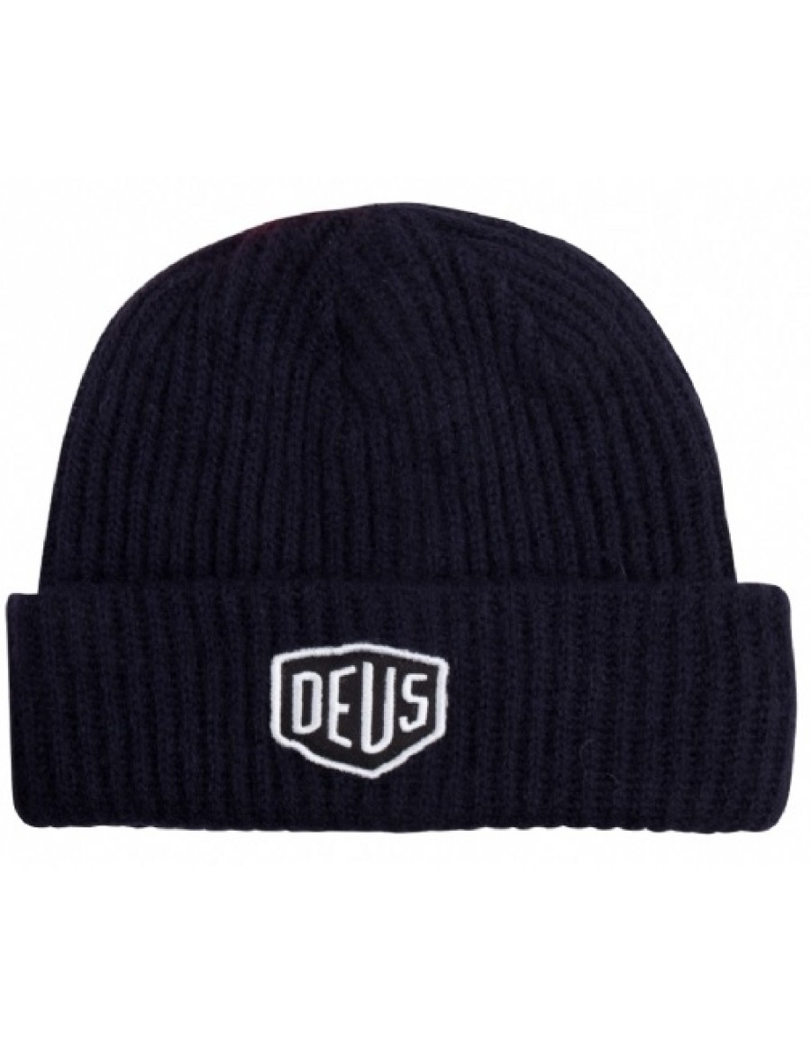 DEUS Shield Beanie - Navy