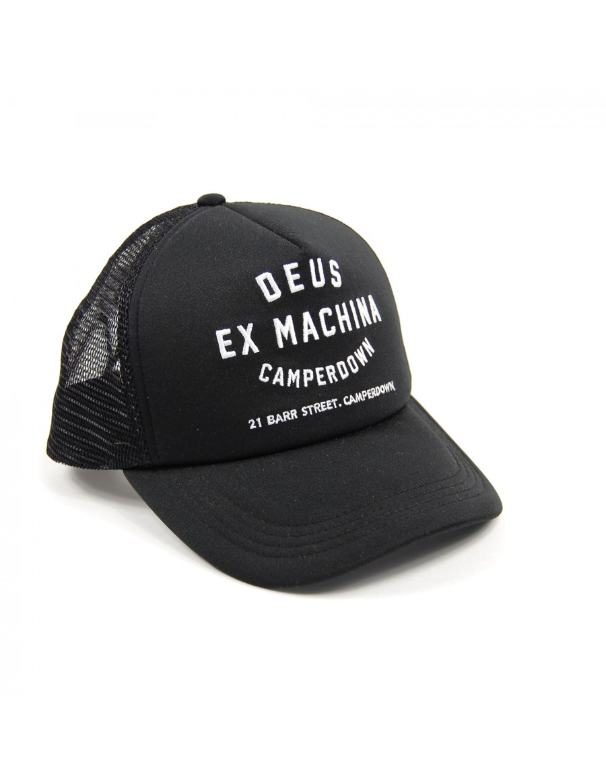DEUS Camperdown Address Trucker cap- Black