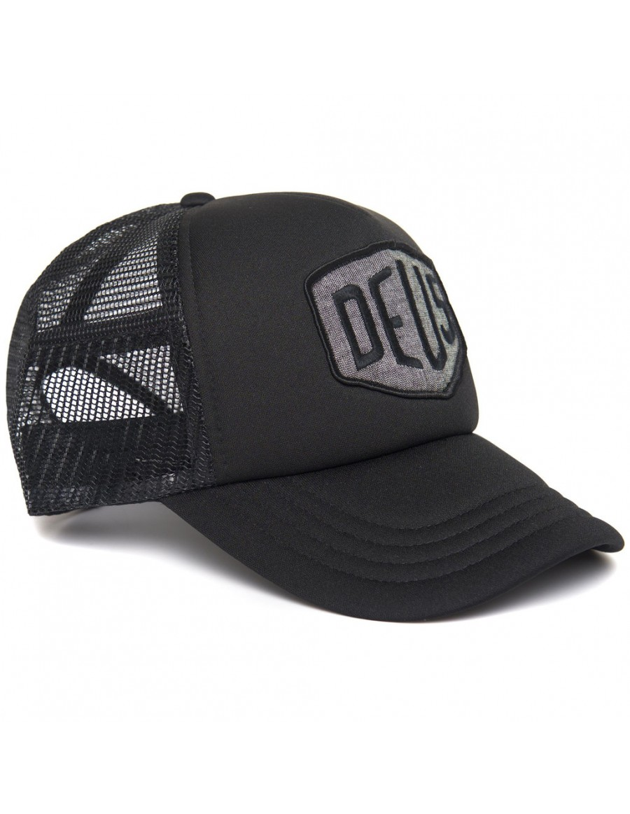 DEUS Trucker pet Chambray Shield - Black