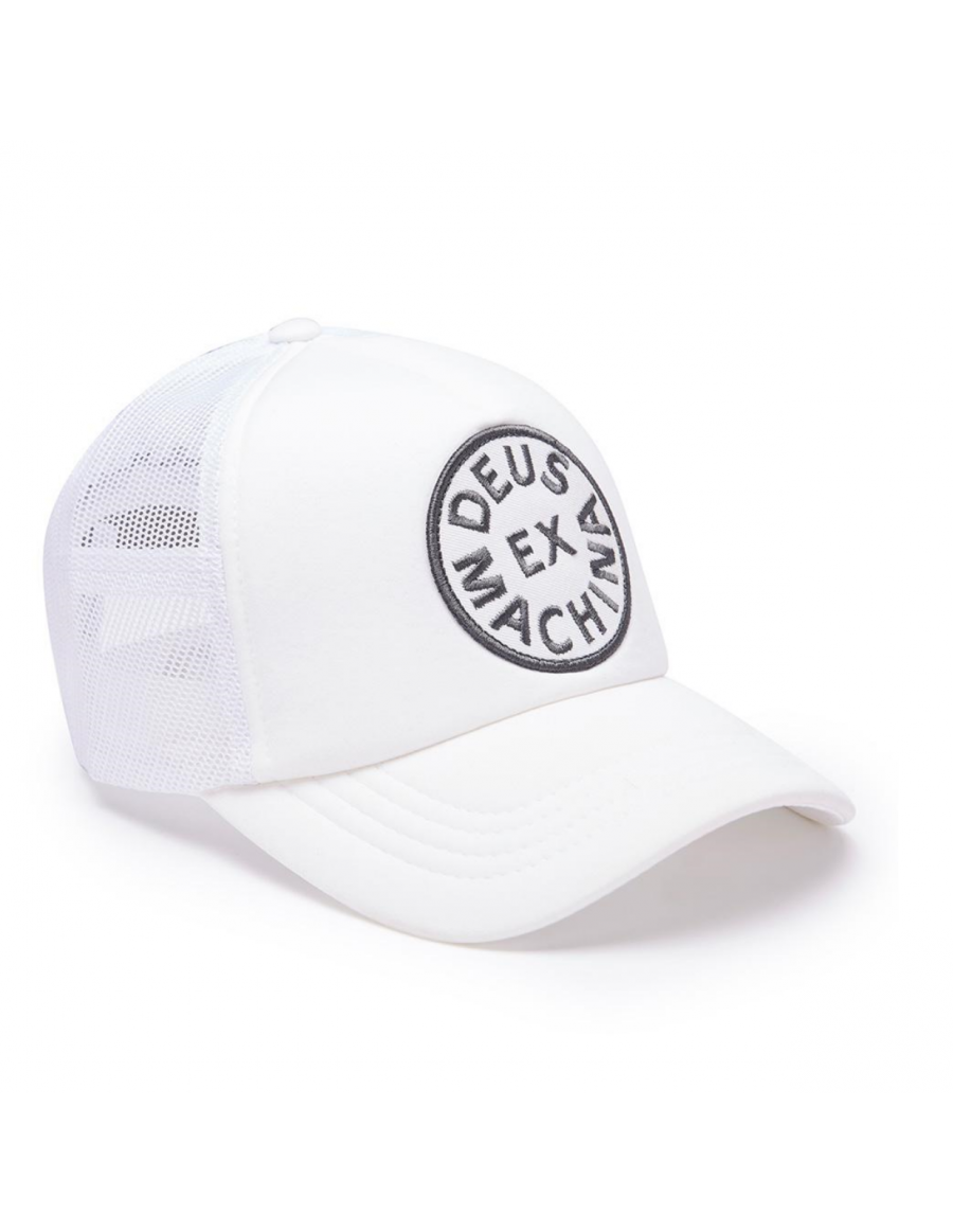 DEUS Circle Trucker cap - White