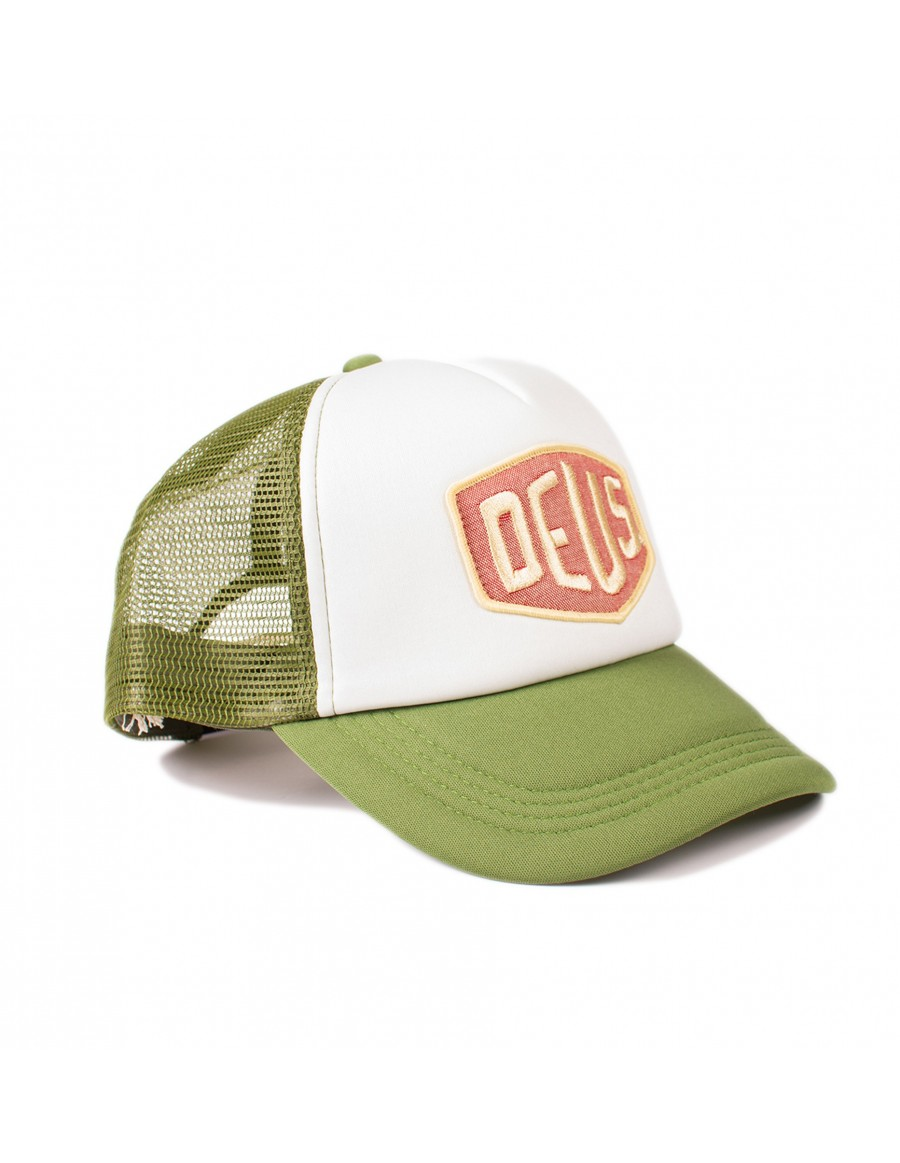 DEUS Colour Shield Trucker cap - Pine