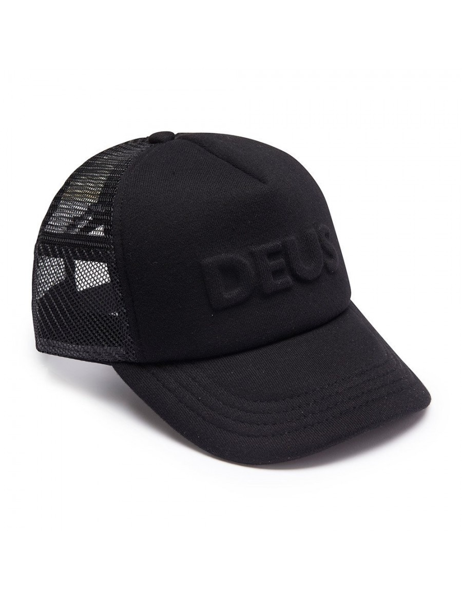 DEUS Pet Trucker Capital Letters- black