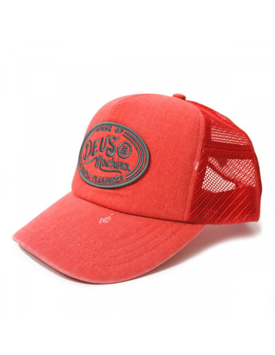 DEUS Pet Trucker Charlie - washed red - Sale