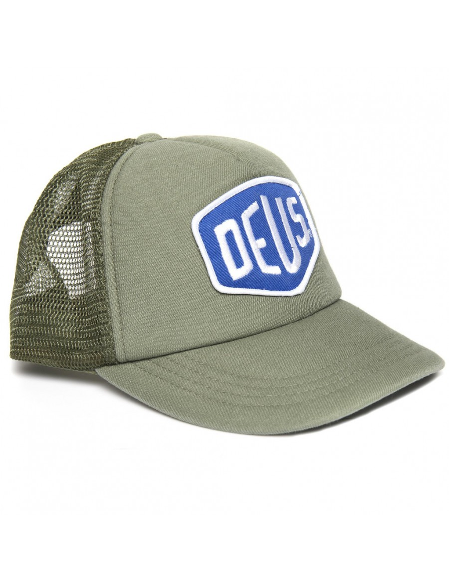 DEUS Shield Trucker cap - OLIVE