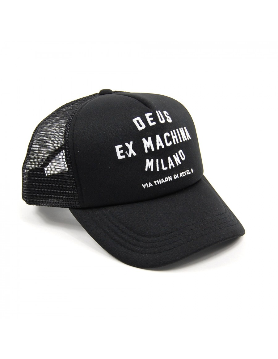 DEUS Trucker cap Milano Address Trucker - Black