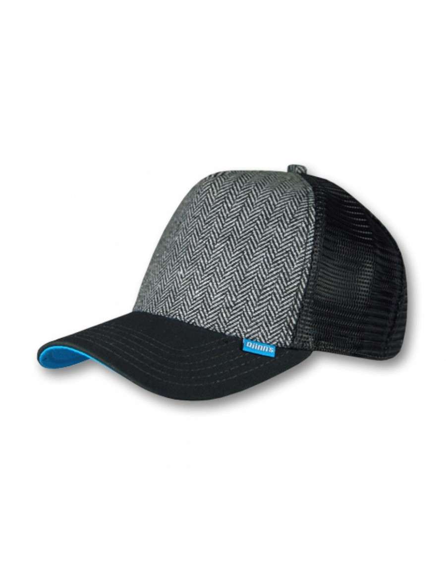Djinn's Tweed Combo Trucker Cap black