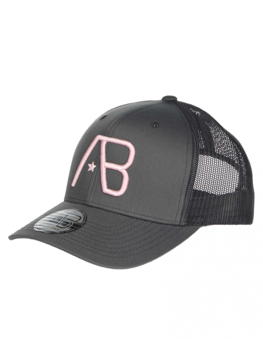 AB cap Retro Trucker - Grey / Pink