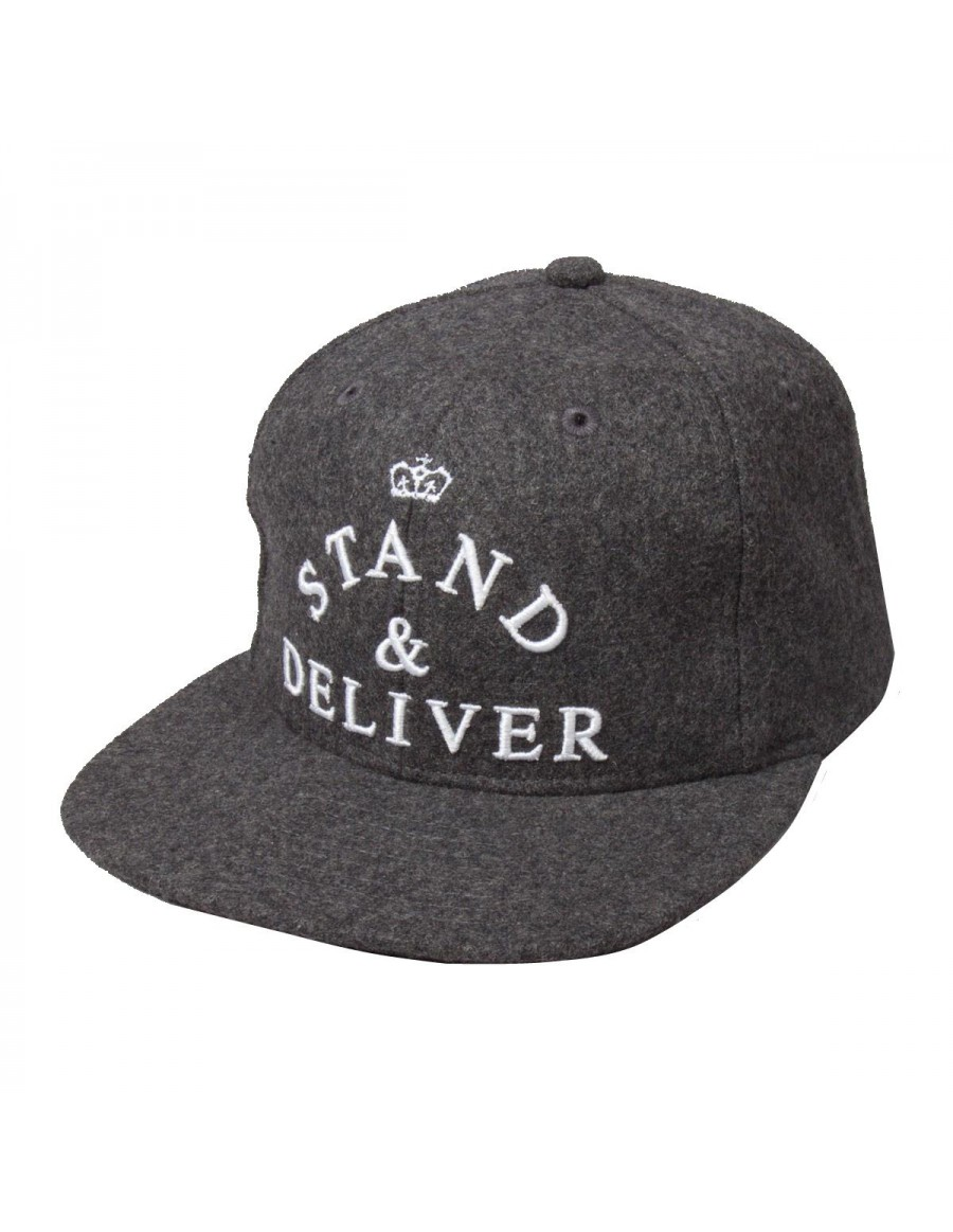 King Apparel Stand & Deliver 6 Panel Strapback grey - Sale