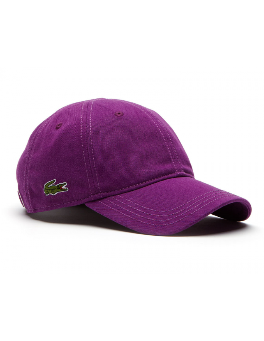 Lacoste pet - Gabardine cap - cosak purple