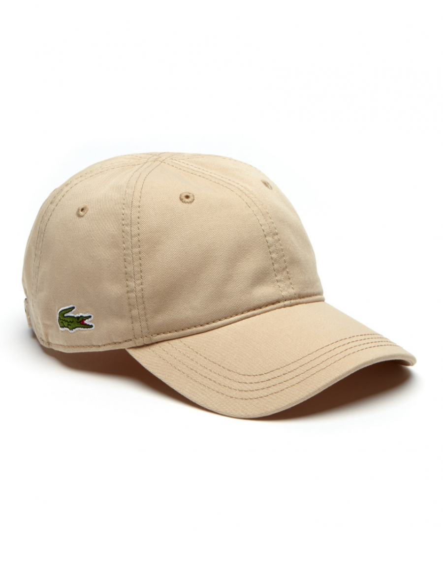 Lacoste pet - Gabardine cap - krema brown