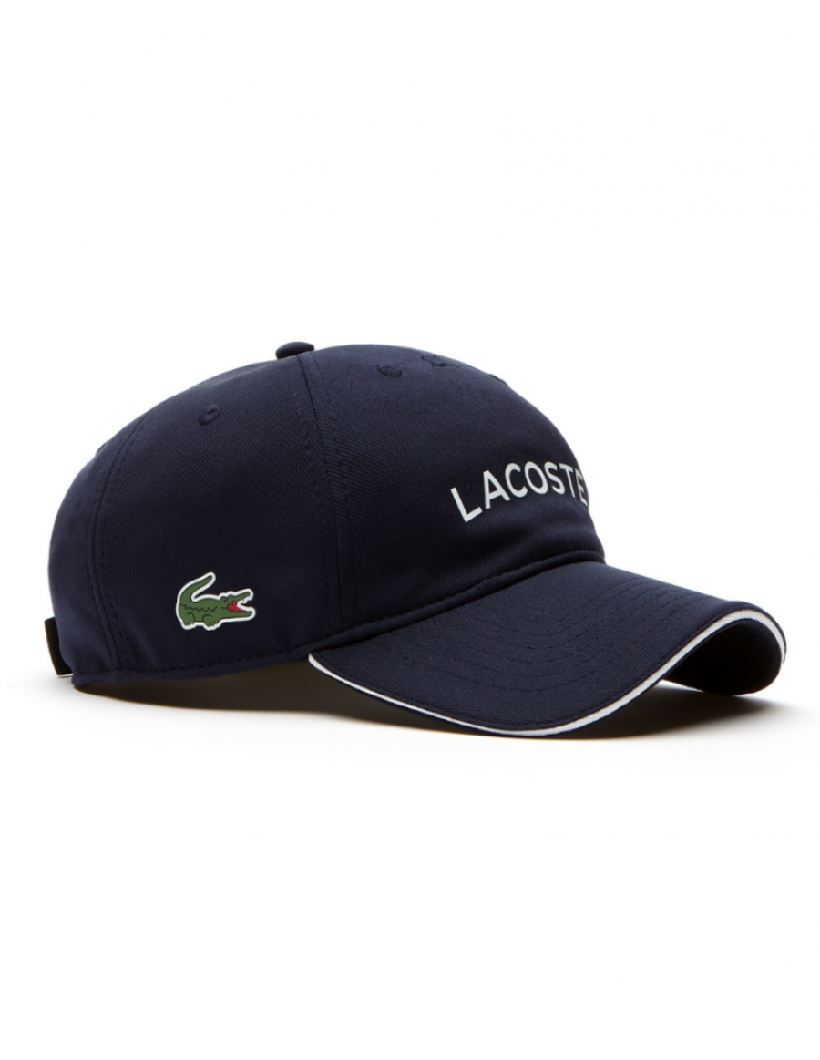 Lacoste pet - Tech Piqué cap - navy