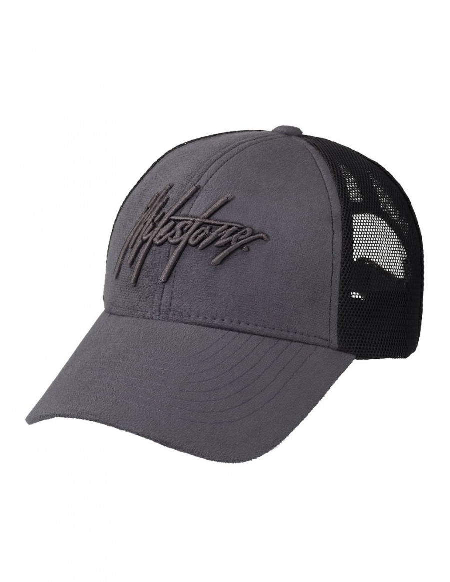 Milestone Relics Signature Suede Trucker Cap - Dark Grey - SALE