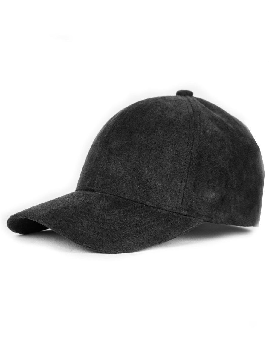 NVLTY London Suede cap Curved - black