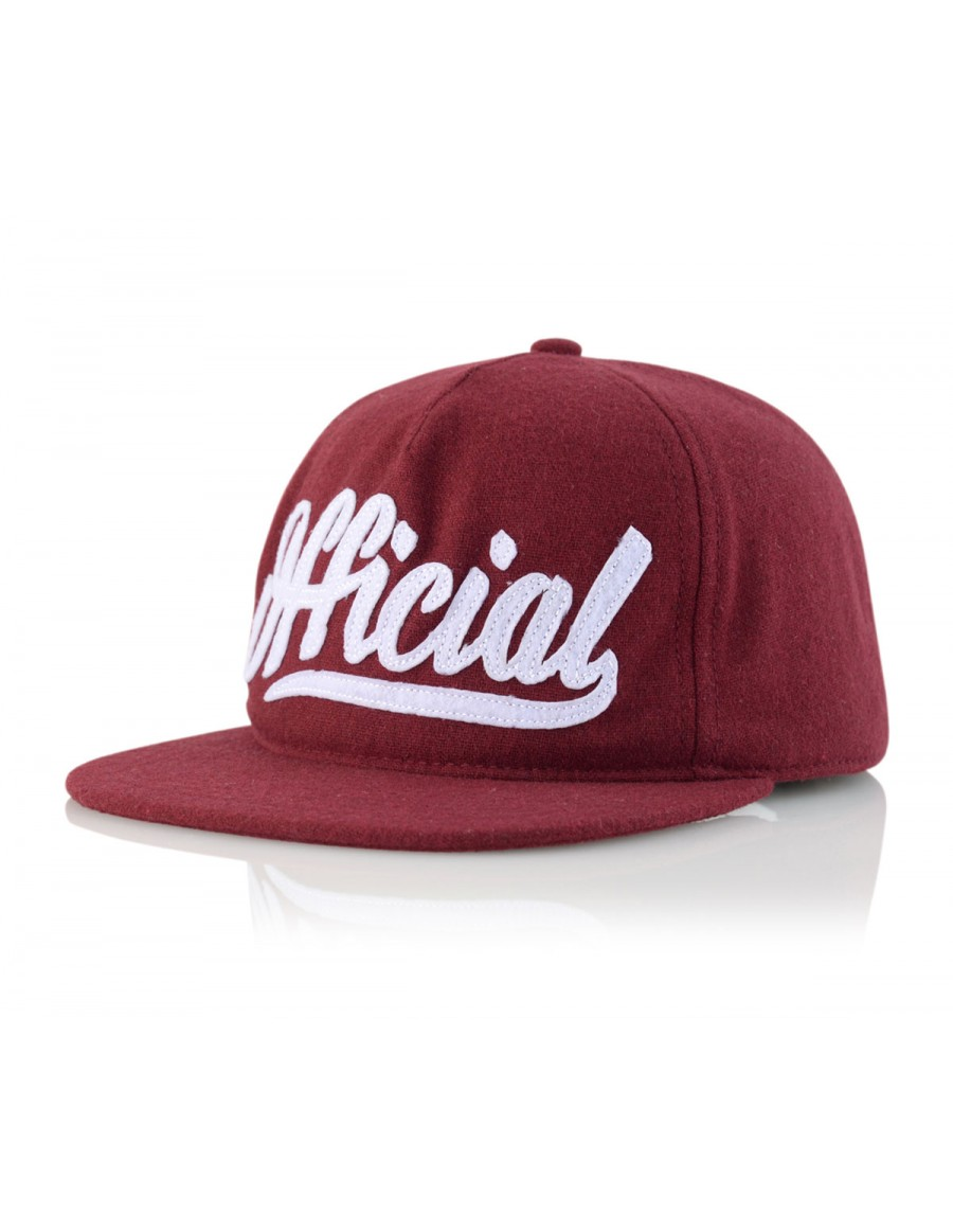 Official Cap Skate Logo Snapback - red