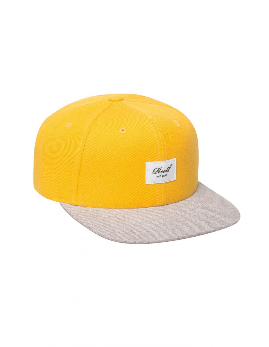 Reell 6 panel Pitchout snapback Yellow / Heather Light Grey