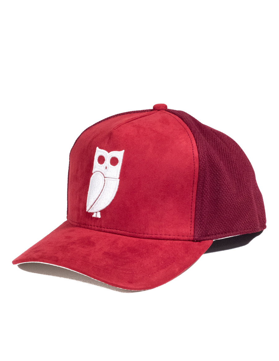 Veryus Clothing - Scylla Suede Trucker Cap - Red