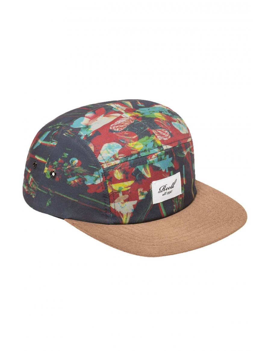Reell 5 panel Allover glitch strapback